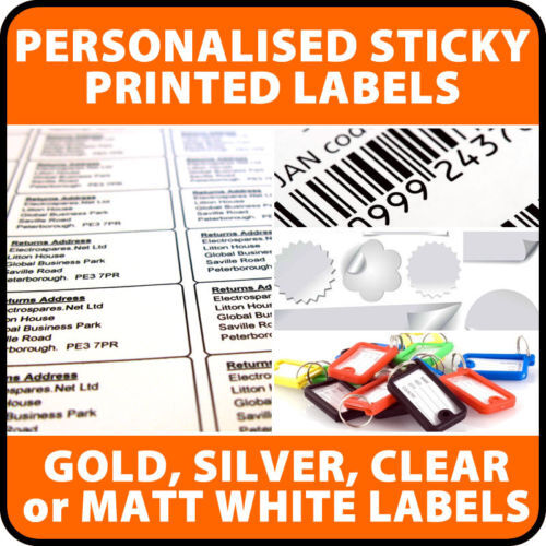 500+ Pre Printed CLEAR Polyester Sticky Address Labels
