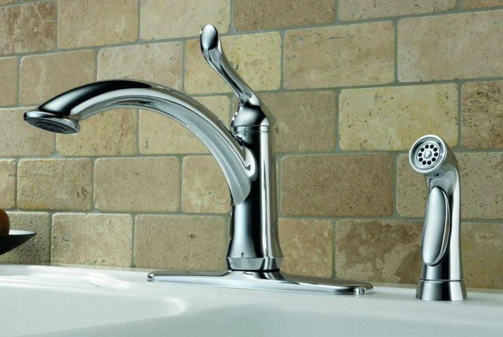 Delta Linden Chrome 1-Handle High-Arc Kitchen Faucet