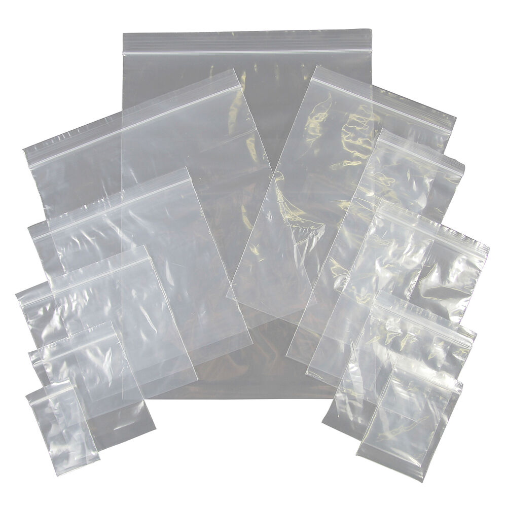 grip seal plastic bags small medium large resealable self