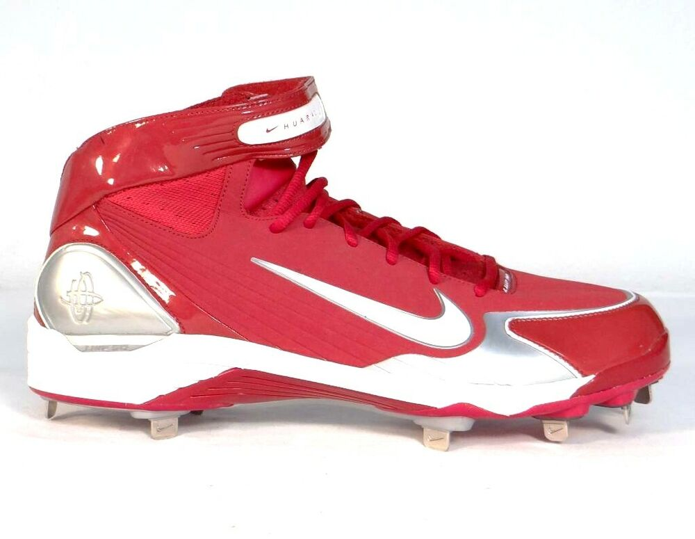 Nike Air Huarache LWP 90 Red Metal Baseball Cleats ...