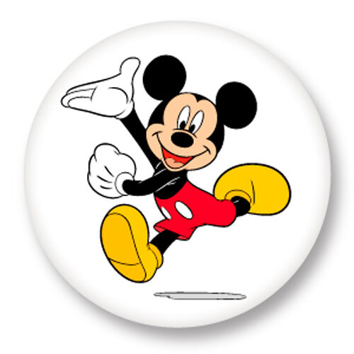 magnet aimant frigo 38mm mickey mouse walt disney dessin anim ebay. Black Bedroom Furniture Sets. Home Design Ideas