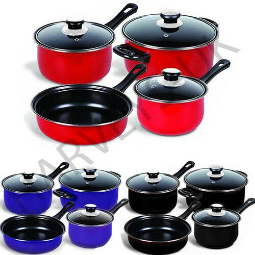 non stick cookware 7pc cookware set steel pan pot carbon non stick saucepan 31008
