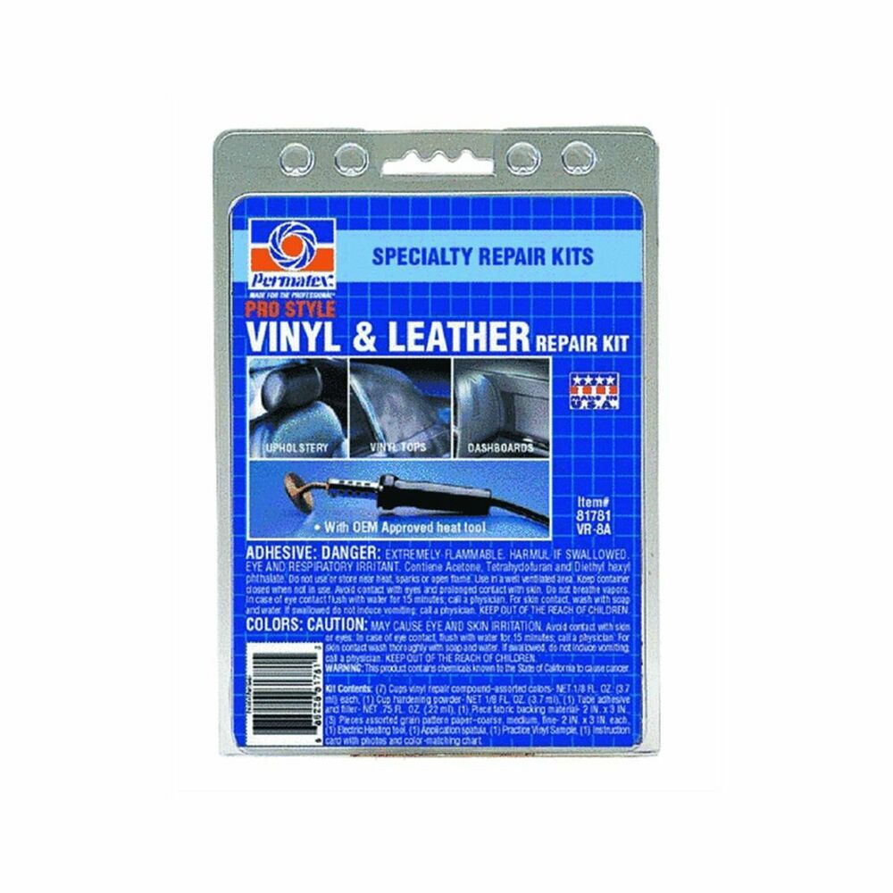 New Permatex 81781 Pro Style Vinyl And Leather Repair Kit