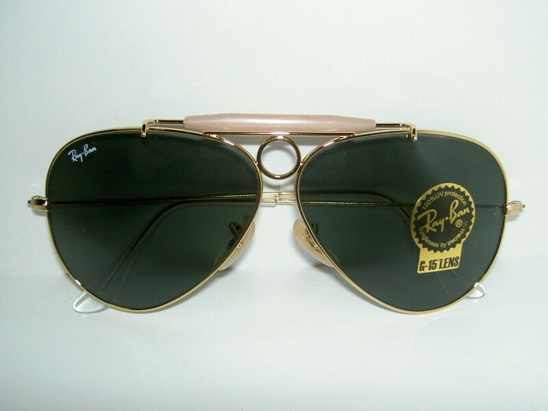 New Ray Ban Sunglasses Aviator Shooter Gold Rb 3138 001