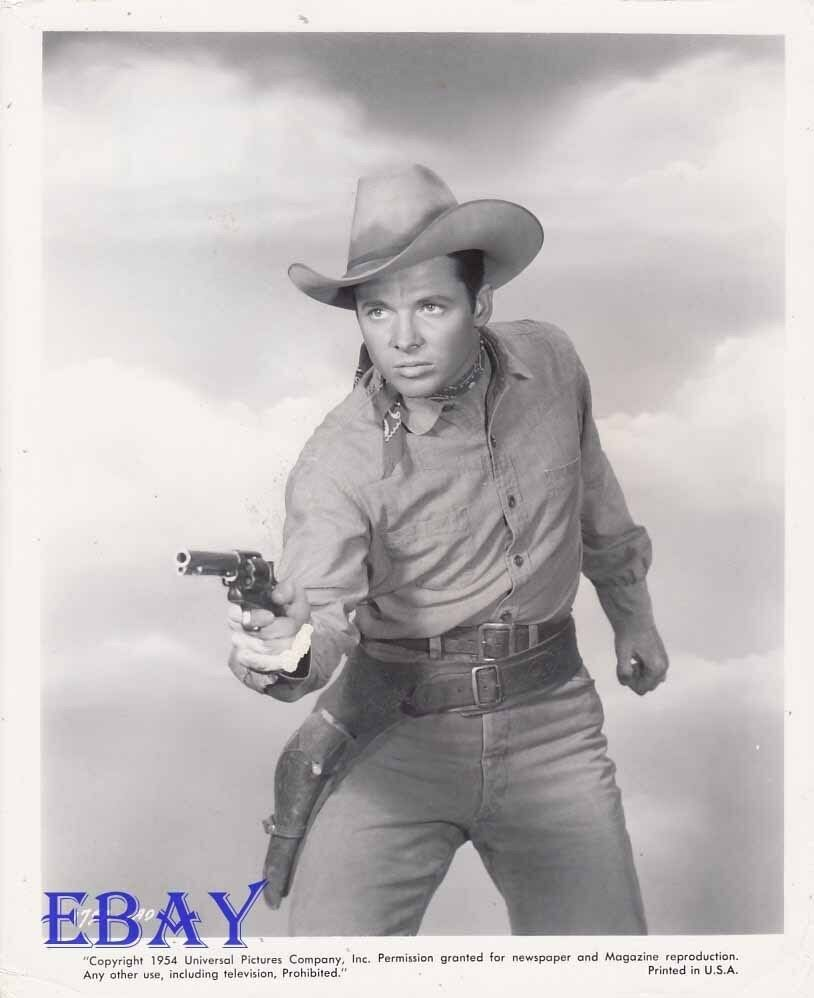 Audie Murphy Sexy W Gun Vintage Photo Drums Across The