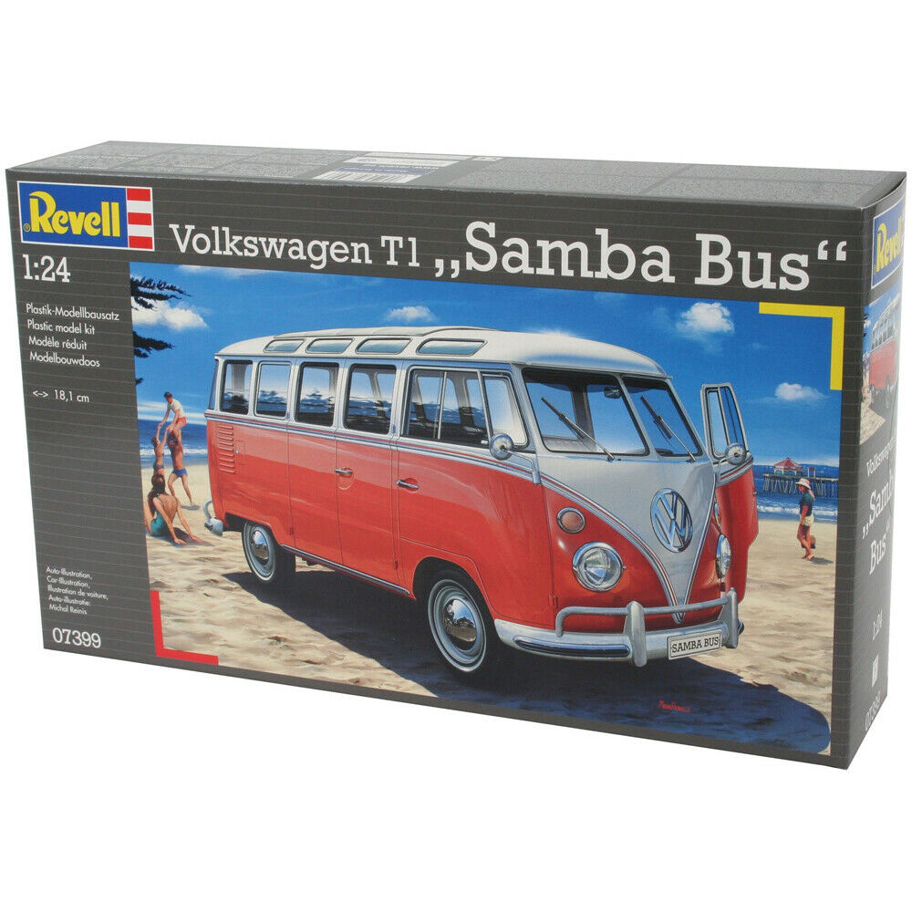 revell volkswagen t1 samba bus scale 1 24 ebay. Black Bedroom Furniture Sets. Home Design Ideas