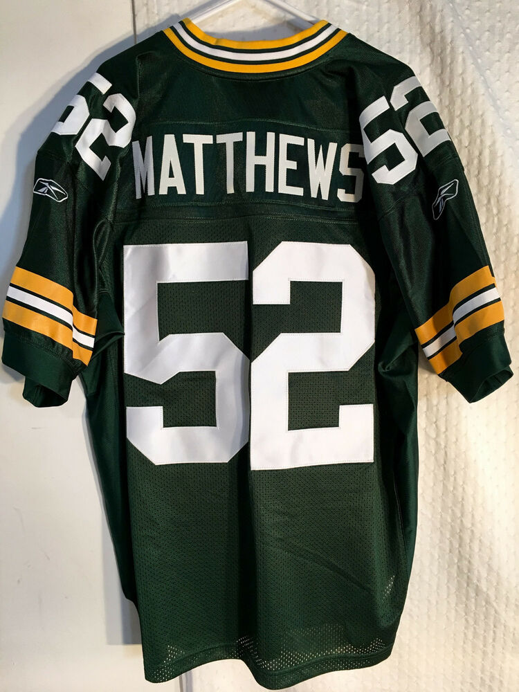 ddfa20eaa06a6 Details about Reebok Authentic NFL Jersey Green Bay Packers Clay Matthews  Green sz 46