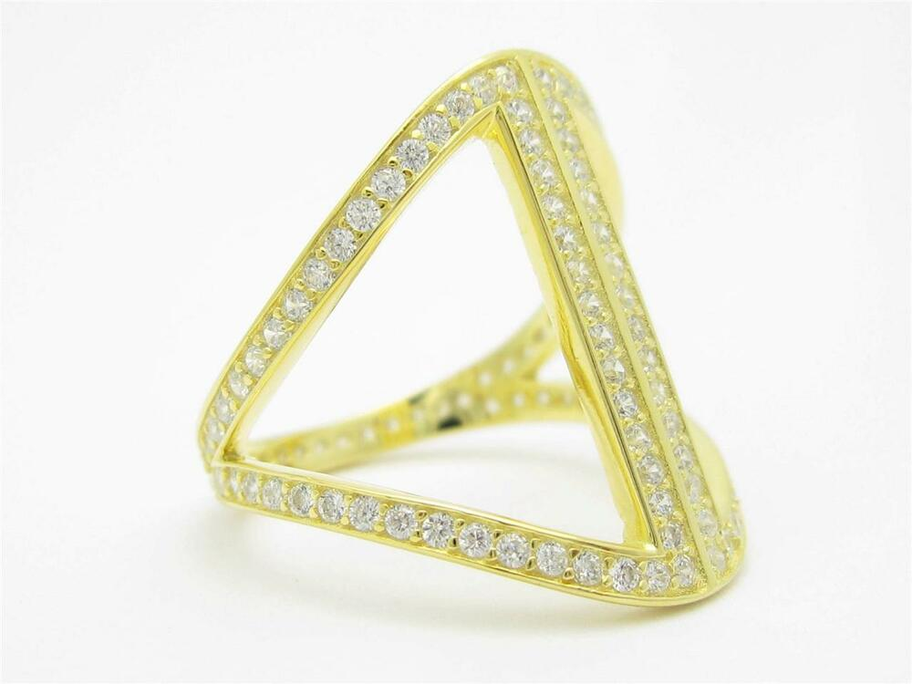 yellow gold sterling silver set white sapphire