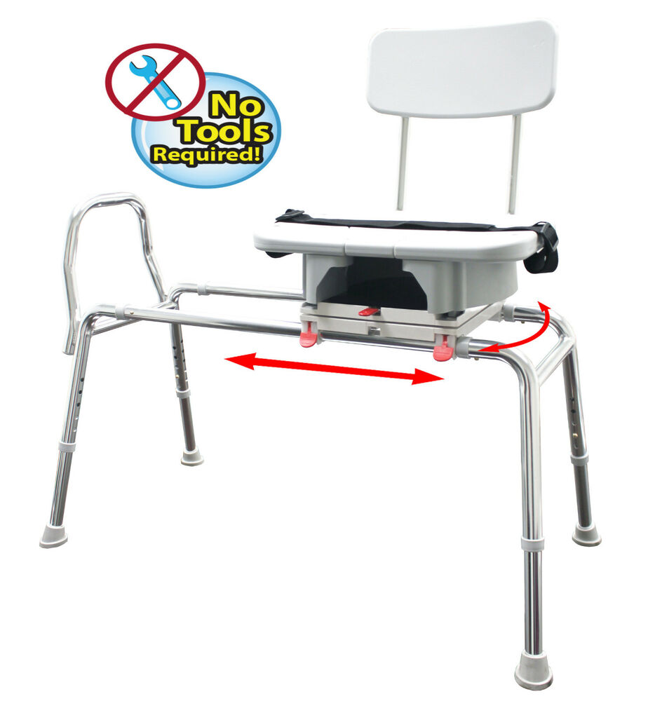 Eagle sliding transfer bench with cut out seat and back 77663 77683 77693 ebay Transfer bath bench