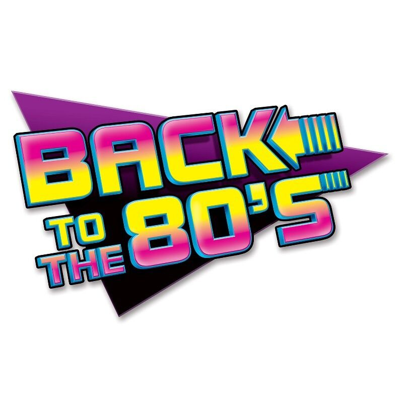 back to the 80 39 s sign 63cm 1980 39 s retro party decorations ebay. Black Bedroom Furniture Sets. Home Design Ideas
