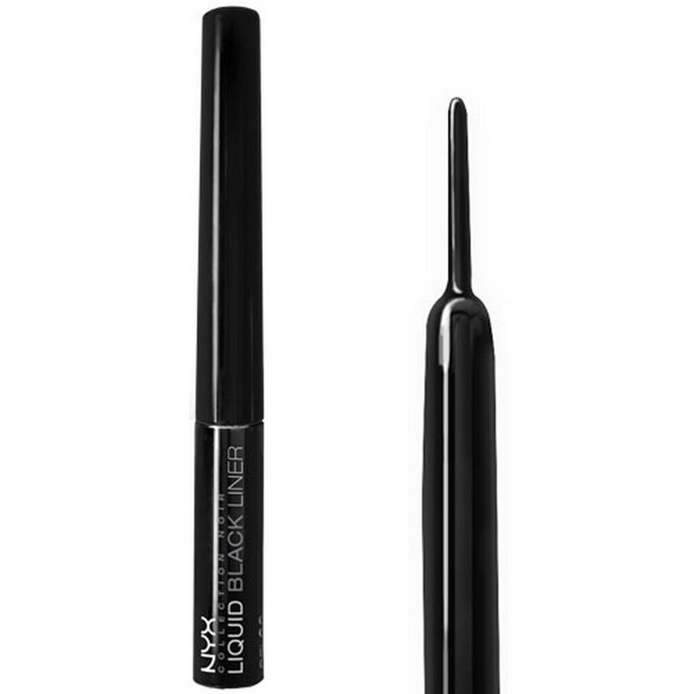 Nyx collection noir eye liner bel06 liquid black liner ebay for Liner noir