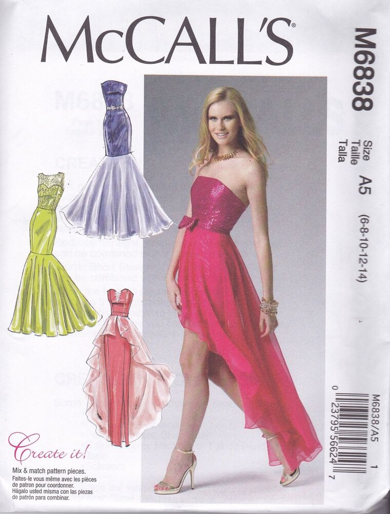 Mccall S Sewing Pattern Misses Prom Evening Dress Sizes 6