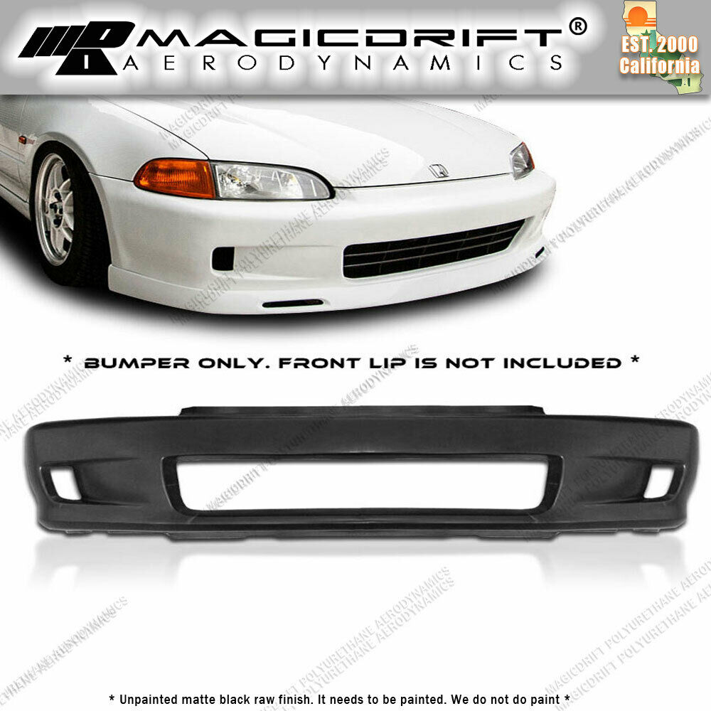 92 95 Honda Civic Eg Coupe 2dr Wc White Crow Style Front