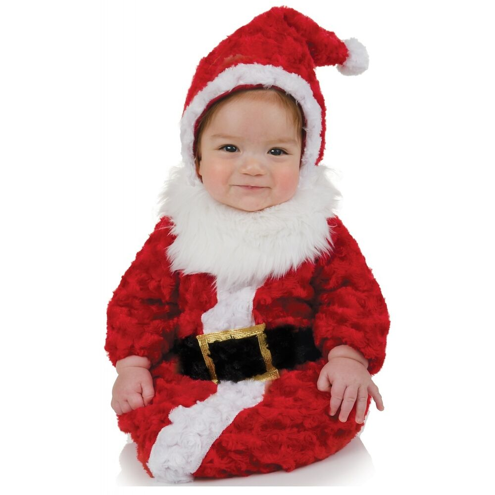 santa outfit baby bunting christmas costume fancy dress ebay. Black Bedroom Furniture Sets. Home Design Ideas