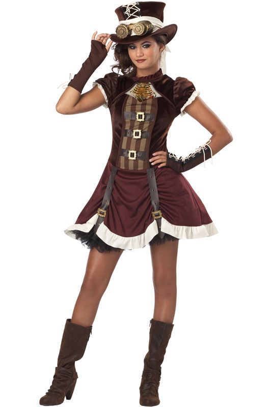 Rock Star Steampunk Girl Tween Halloween Costume | eBay