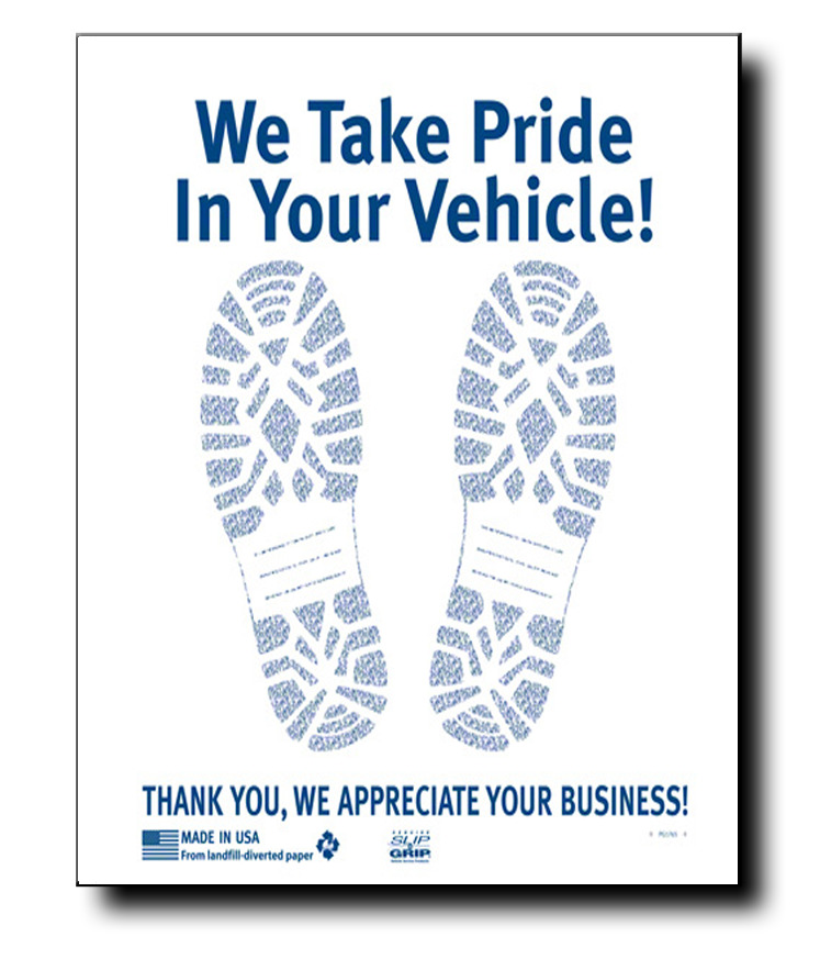 500 Paper Floor Mats Car Wash Auto Detailing Dealer Box Ebay