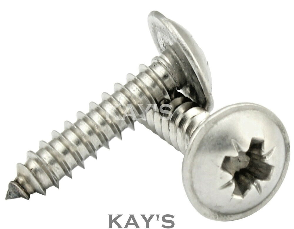 pozi flanged self tapping screws a2 stainless steel tappers no 6 8 10 12 kay 39 s ebay. Black Bedroom Furniture Sets. Home Design Ideas