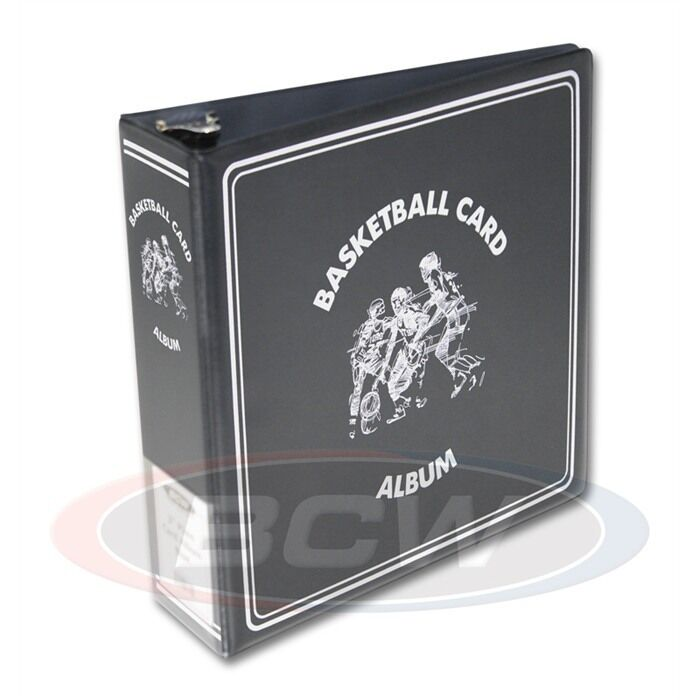 4 BCW 3 Inch Black Basketball Card Collector D-Ring