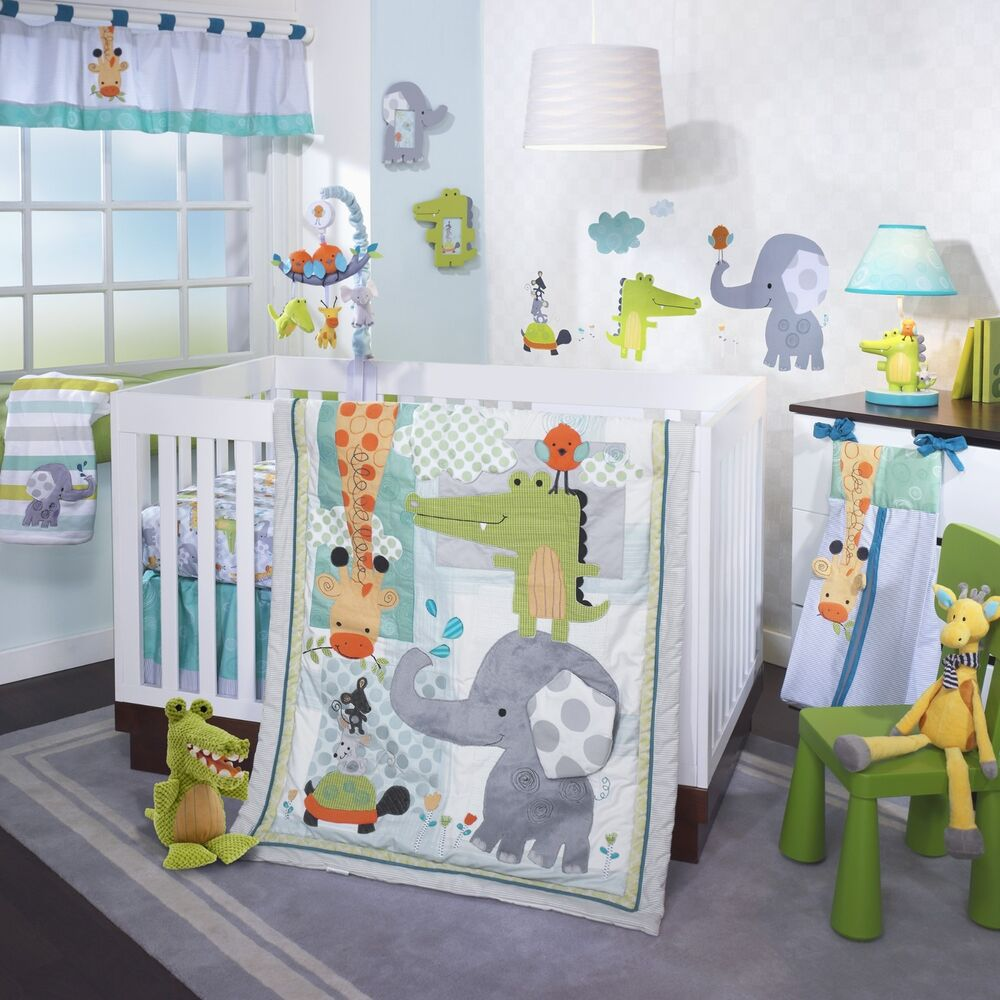 Lambs Amp Ivy Yoo Hoo 5 Piece Baby Nursery Crib Bedding Set