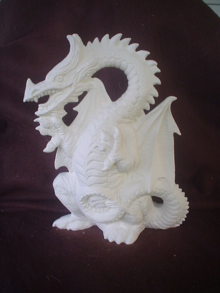 C593 ceramic bisque 9 dragon ready to paint ebay for How to make ceramic painting