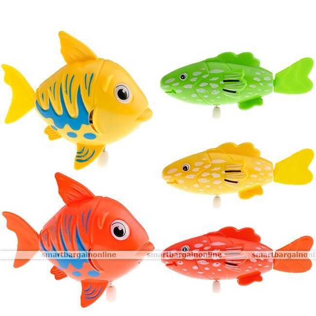 Water Robo Wind Up Moving Plastic Swimming Fish Baby Kid