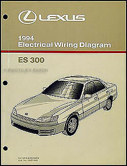1994    Lexus ES 300    Wiring       Diagram    Manual 94 ES300    Electrical    Schematic Book   eBay
