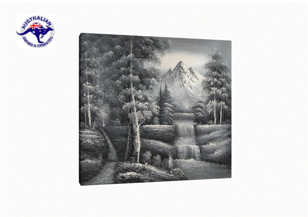 Canvas wall art black and white oil painting hand painted for Black white canvas paintings
