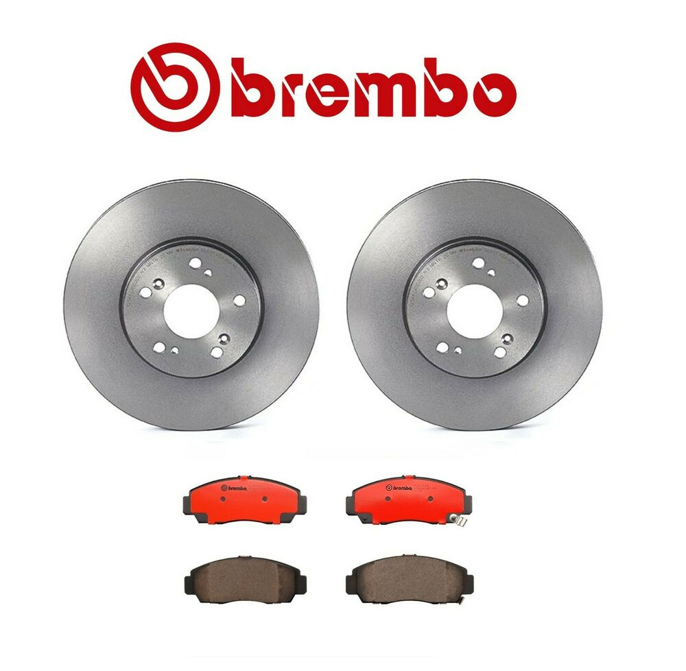 Set Of 2 Brembo Front Brake Rotors & Pads Kit Acura CL TL