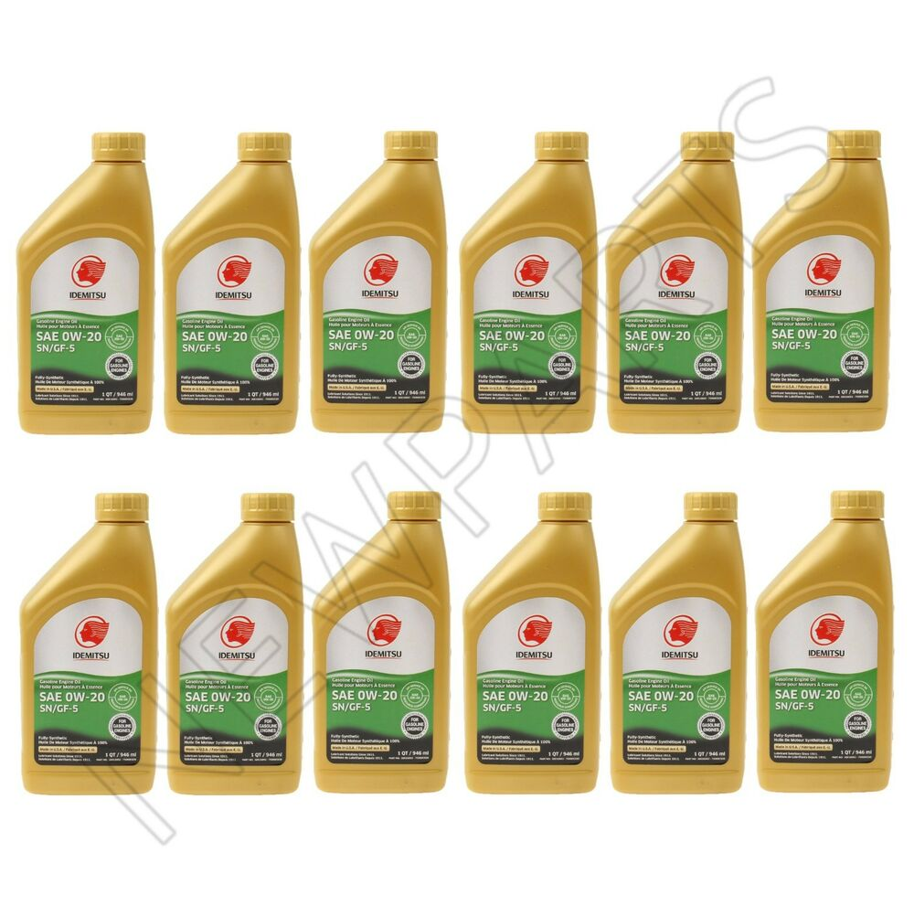 12 Quarts 0w 20 Oem Supplier Idemitsu Full Synthetic
