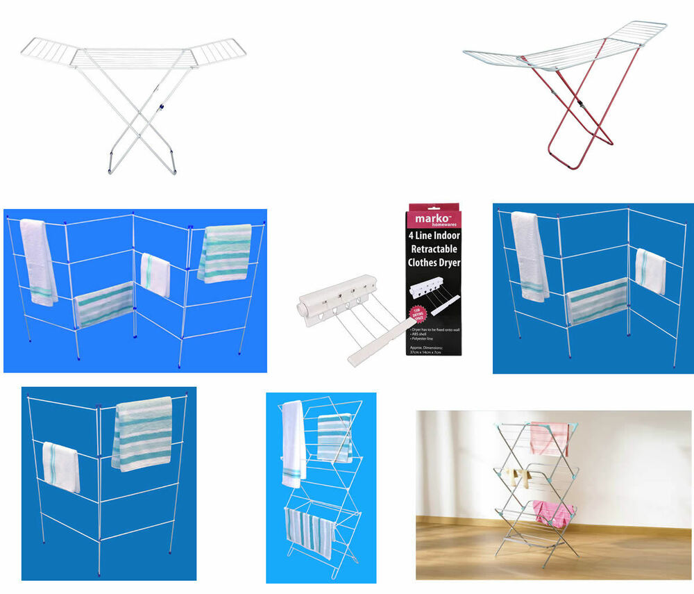 Folding Clothes Airers Indoor Drying Rack Laundry Dryer