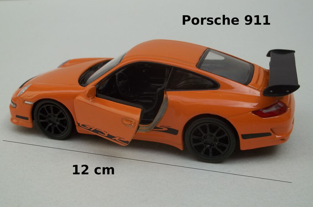 voiture miniature porsche 911 orange friction jouet collection car auto ebay. Black Bedroom Furniture Sets. Home Design Ideas