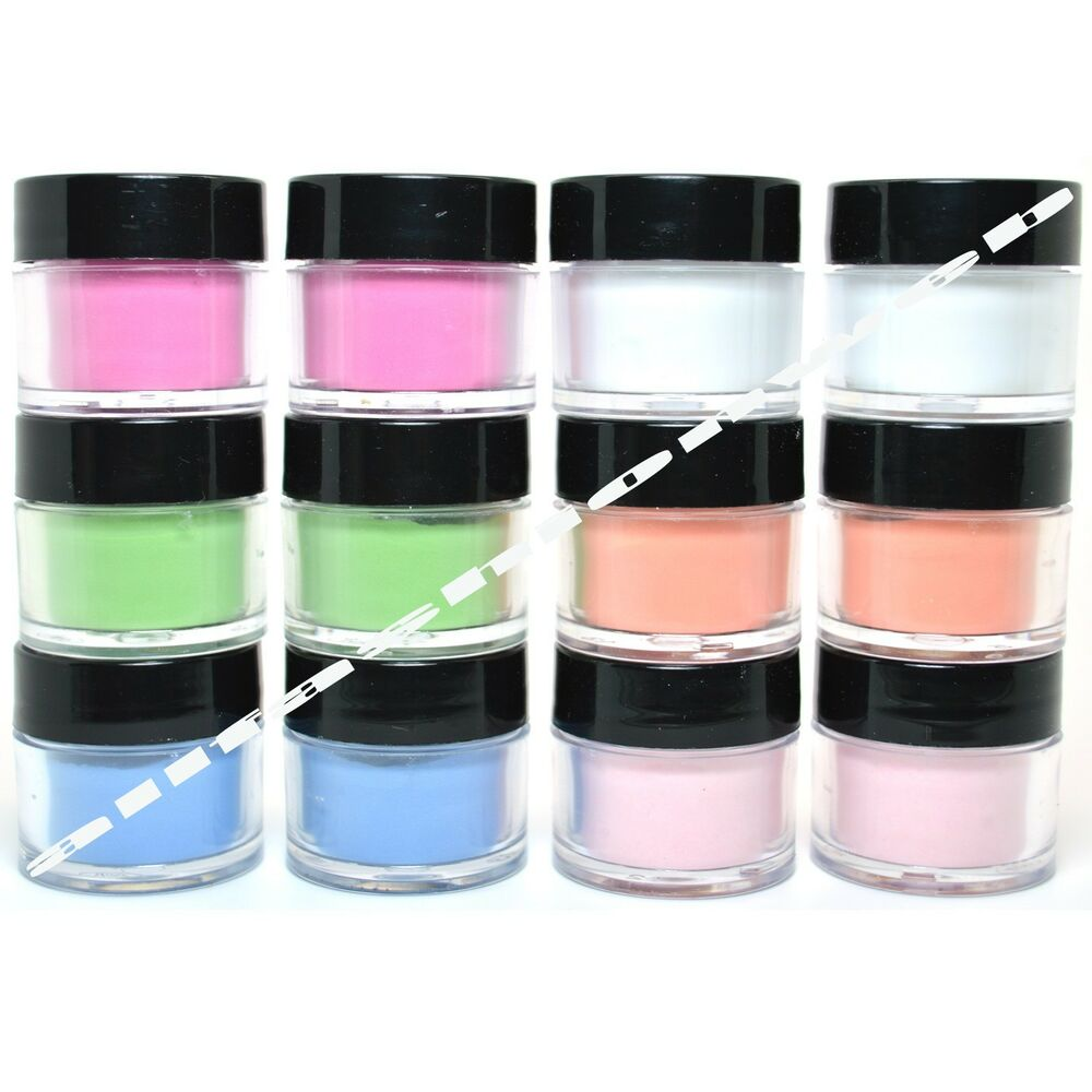 12 MIA SECRET NAIL ART ACRYLIC POWDER NEON GLOW IN THE