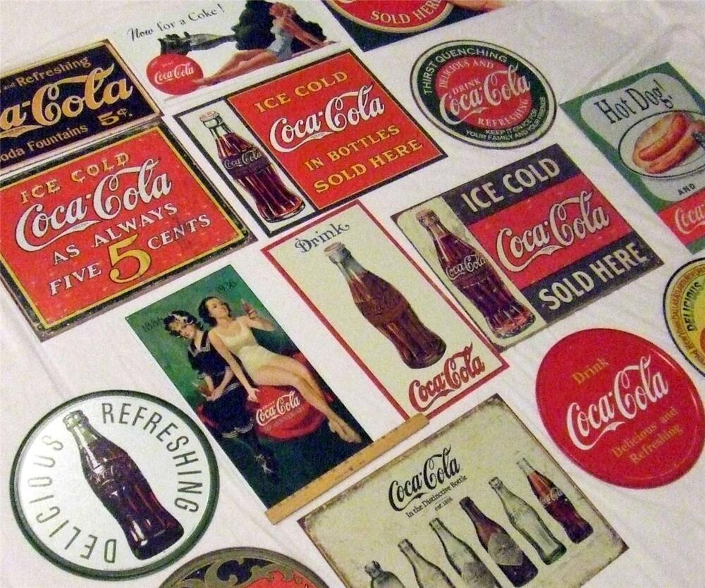 Huge 15 sign bulk lot retro coca cola large coke tin for Home decor online shopping usa