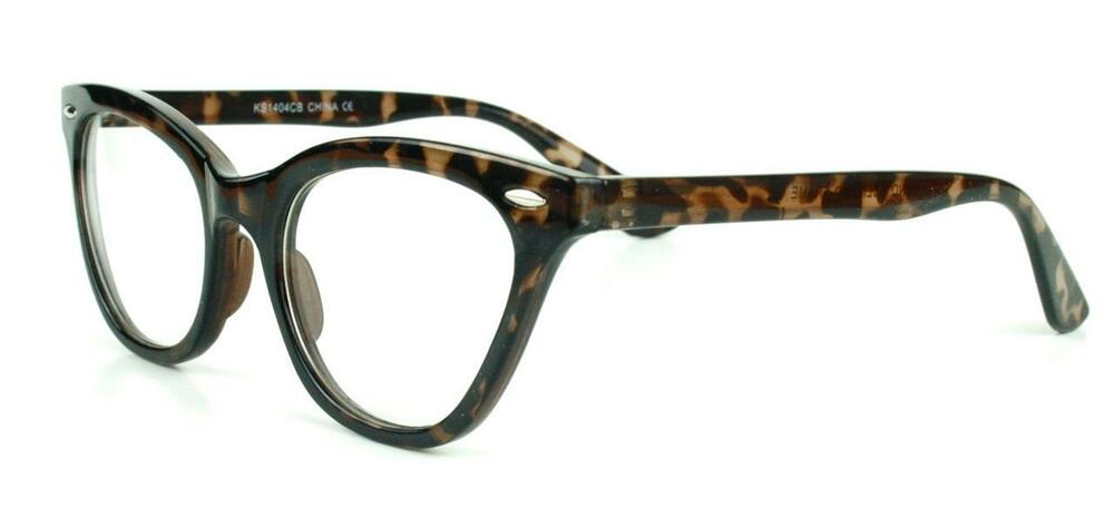 Vintage Retro Cat Eye Clear Lenses Hipster Tortoise ...