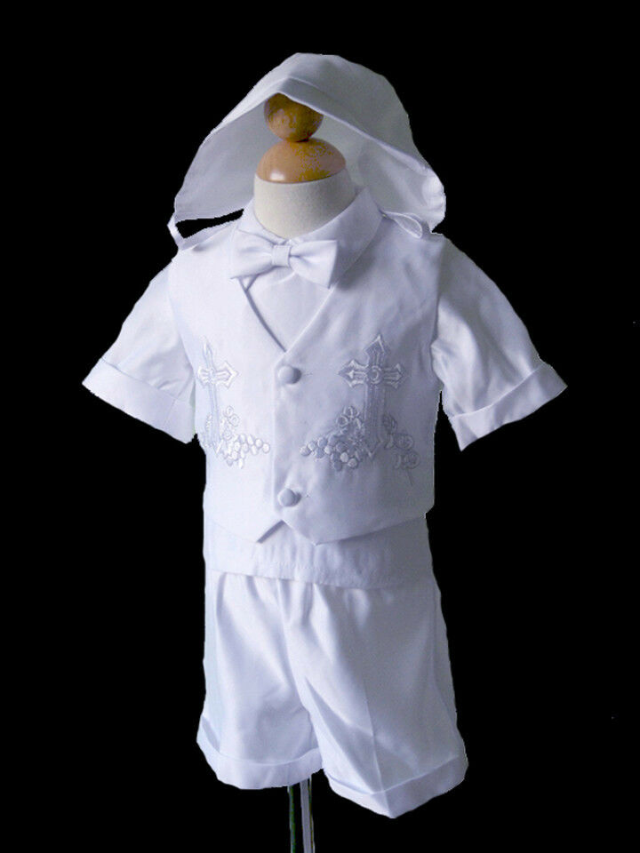 Boys Infant Toddler Christening Baptism Outfit, Sz :XS, S ...
