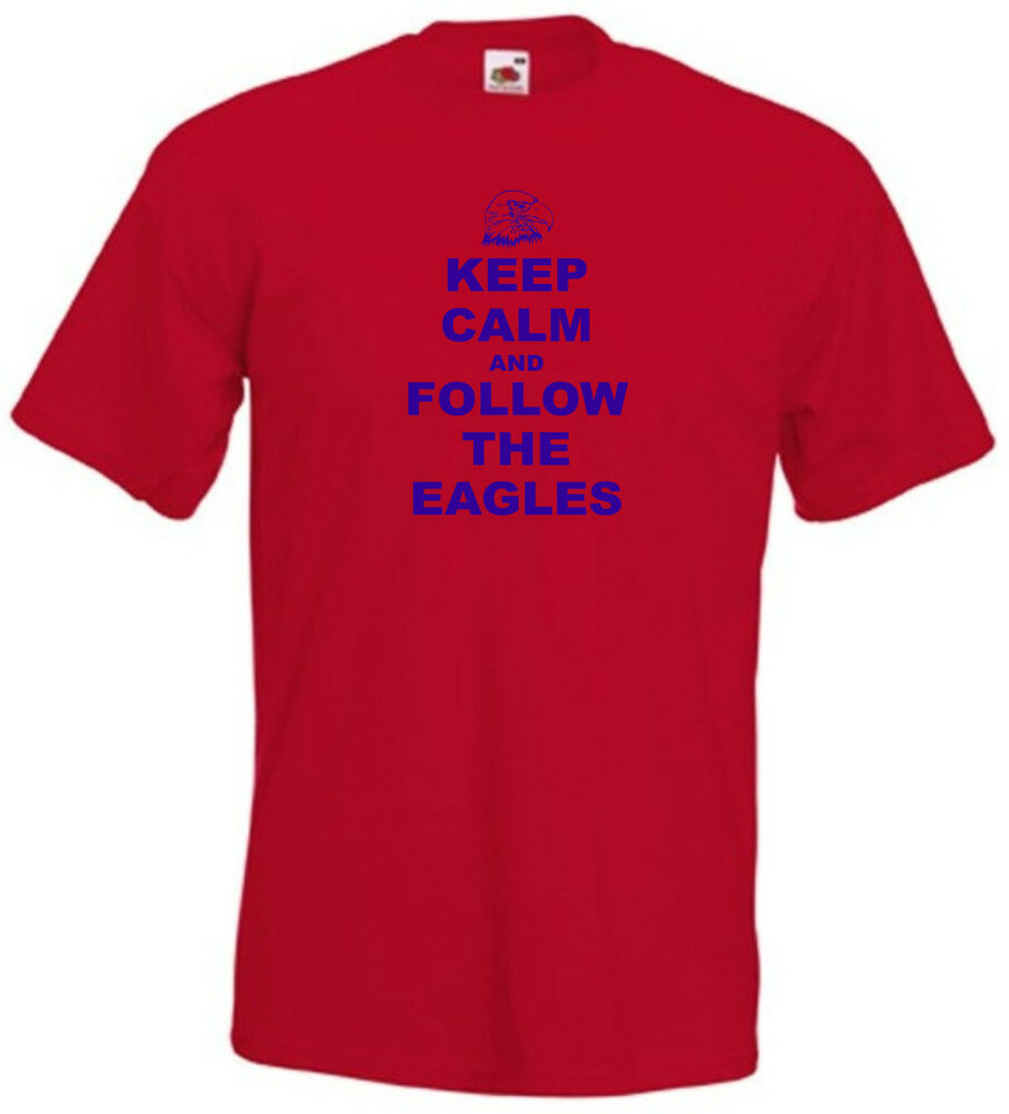 Crystal palace fc keep calm and follow the eagles football for Eagles football t shirts