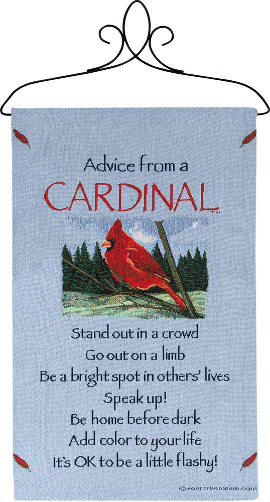 Advice From A Cardinal ~ True Nature Tapestry Wall Hanging ...