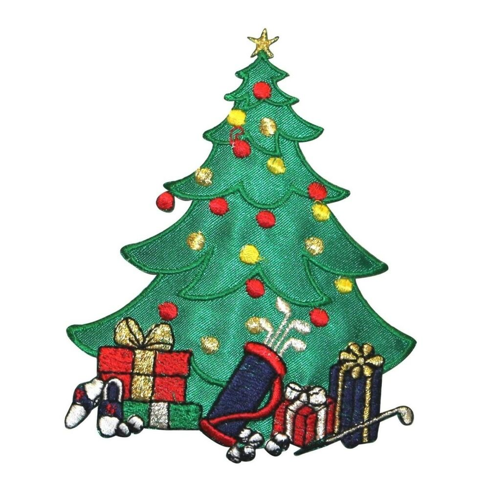 Christmas Tree Patch: ID 8047 Golf Lover Christmas Tree Sports Fan Embroidered