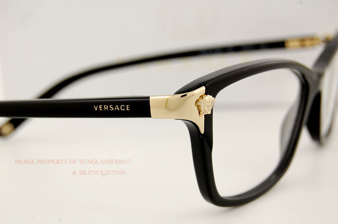 Latest Glasses Frames For Ladies : Brand New VERSACE Eyeglasses Frames 3156 GB1 BLACK for ...