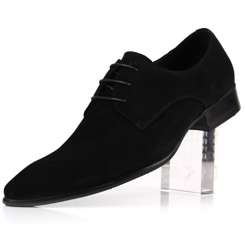 new fashion s suede leather dress formal shoes lace up