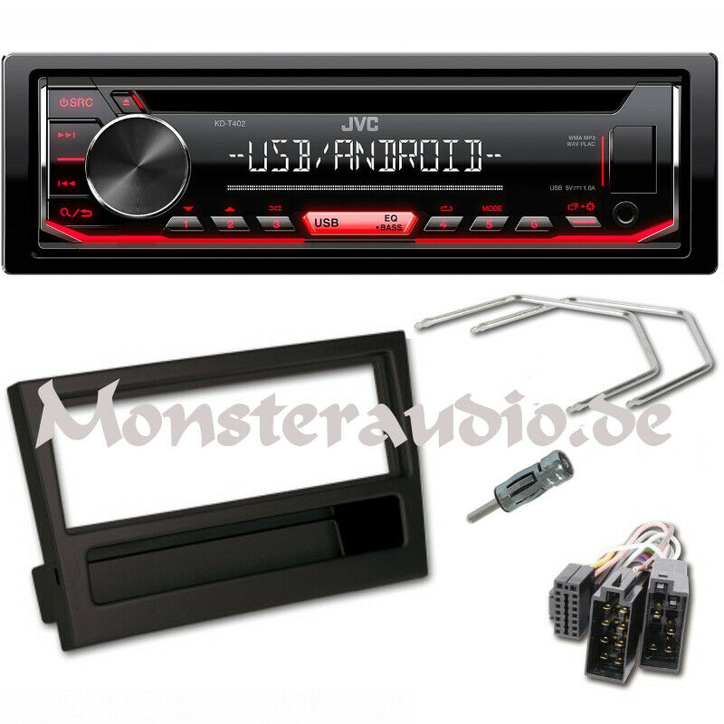 jvc autoradio usb cd mp3 radio opel corsa c combo meriva omega b vectra c radio ebay. Black Bedroom Furniture Sets. Home Design Ideas