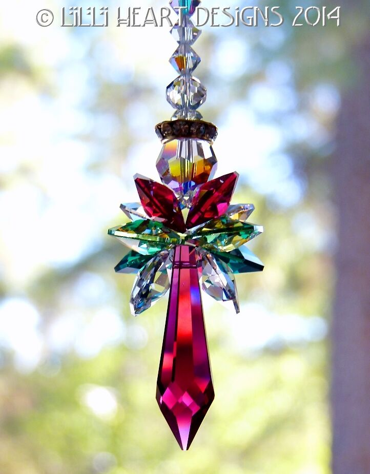 m/w Swarovski Crystal Big 2014 Christmas Angel Suncatcher ...