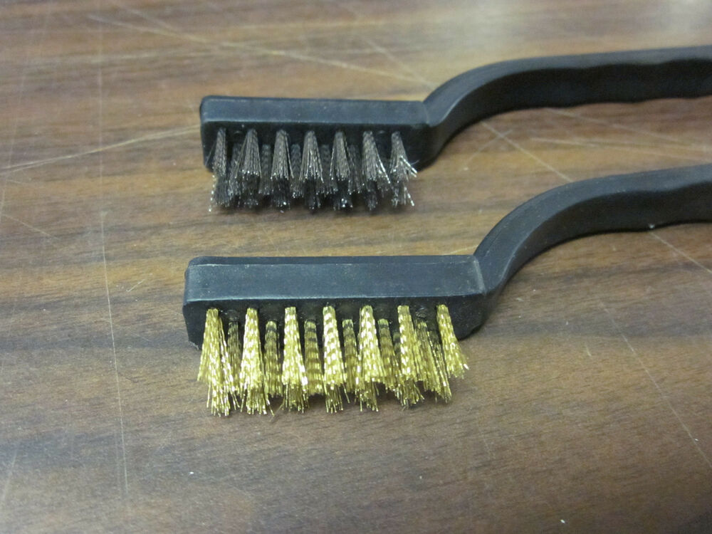 Lot Of 24 Brass Stainless Steel Wire Brush Tooth