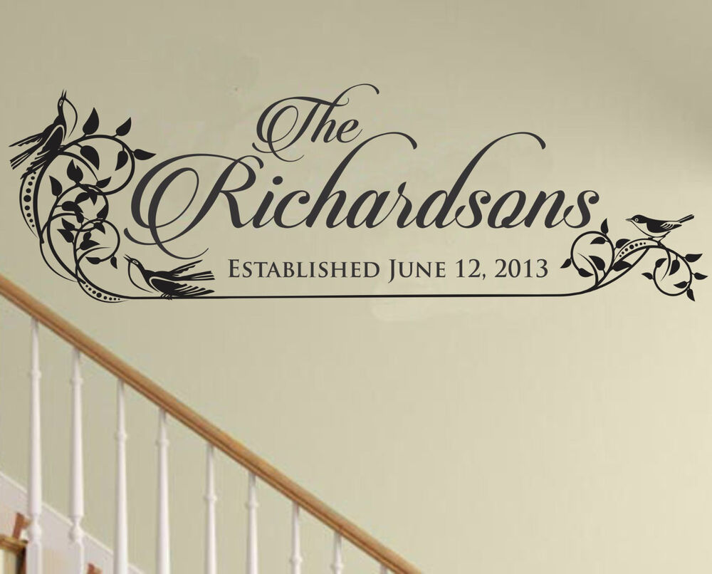 Personalized Family Name Sign Family Established Decal Family Wall Decal Wedding Ebay