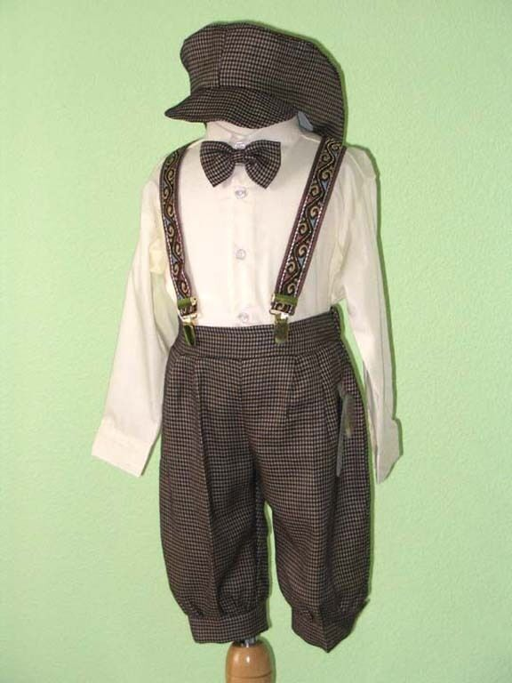 Boy Infant Toddler Knickers Vintage Outfit  Ivory/Dark Brown12 Month To 4T | EBay