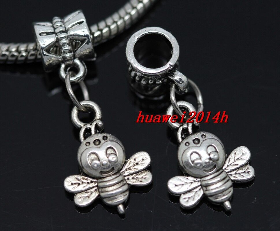 wholesale 30pcs tibetan silver bee bulk lots dangle