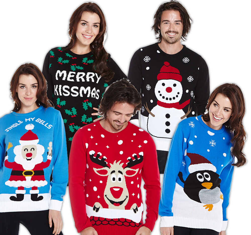 Christmas winter fashion traditional novelty jumpers sweaters knitwear