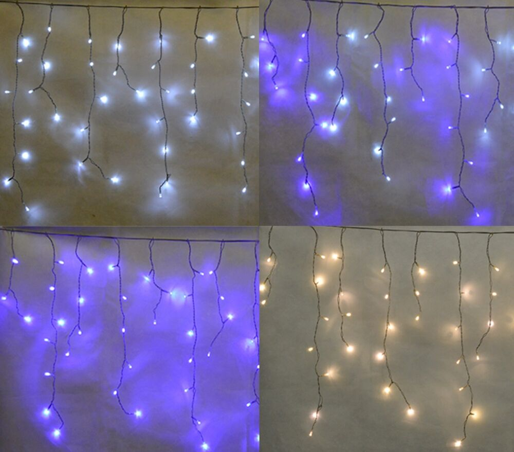 Christmas LED Snowing Icicle Lights Outdoor Weatherproof