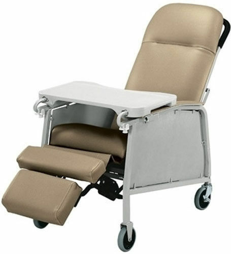 New Lumex 574g Three 3 Position Recliner Geri Chair Taupe