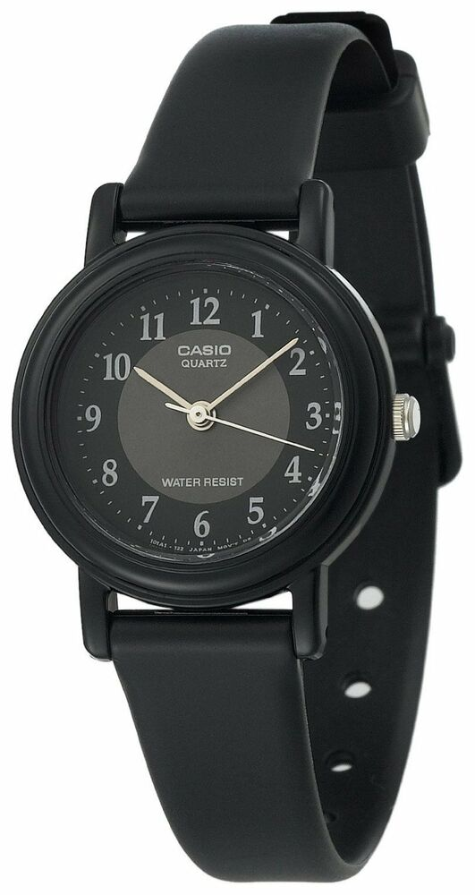 Casio lq139a 1b3 women 39 s resin band classic black easy reader dial analog watch ebay for Black resin ladies watch